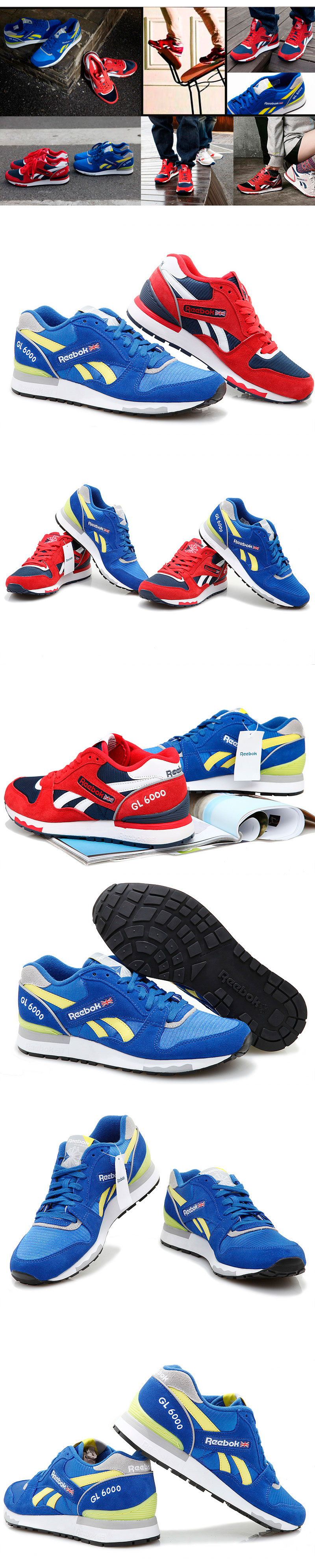 большое фото №6 Reebok GL6000 J98339  RBK/YELLOW/GREY