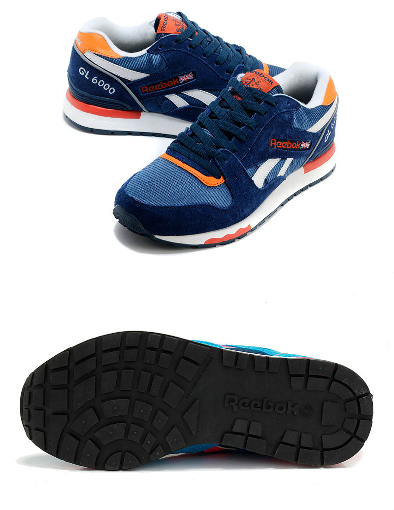 большое фото №6 Reebok GL6000 V47347 BLUE/ ORANGE/ WHT