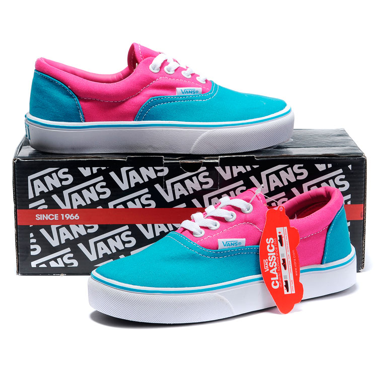 фото bottom Vans Classic Slip-On blue pink bottom