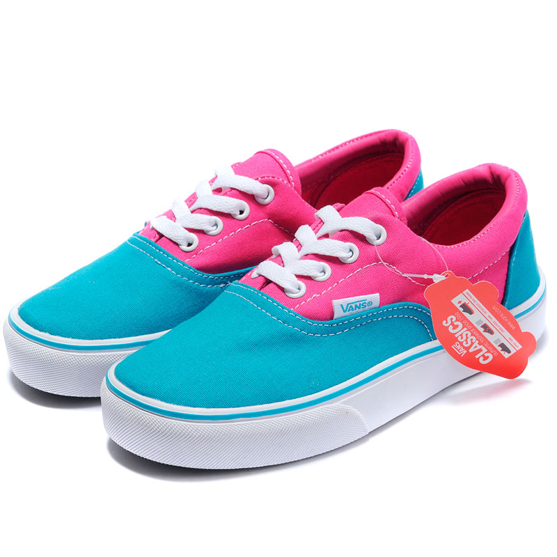фото front Vans Classic Slip-On blue pink front