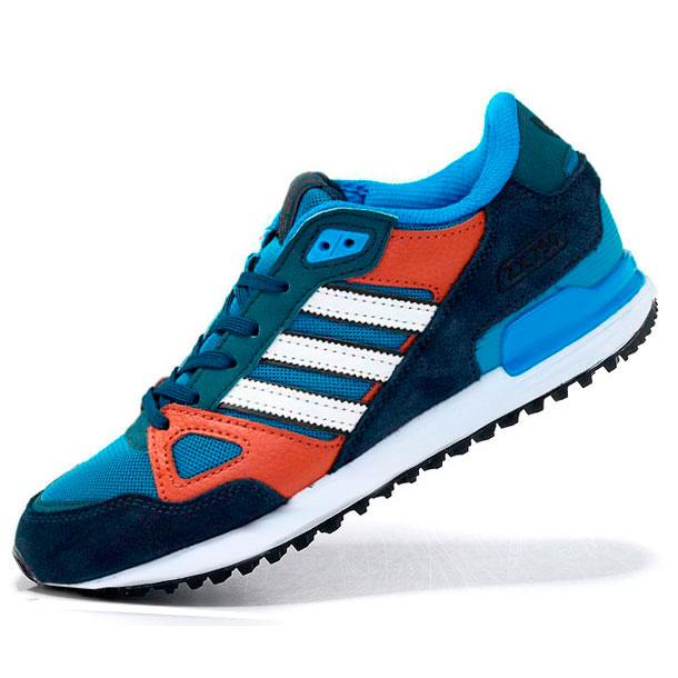 фото main Мужские кроссовки Adidas zx750 синие с коричневым - Топ качество main