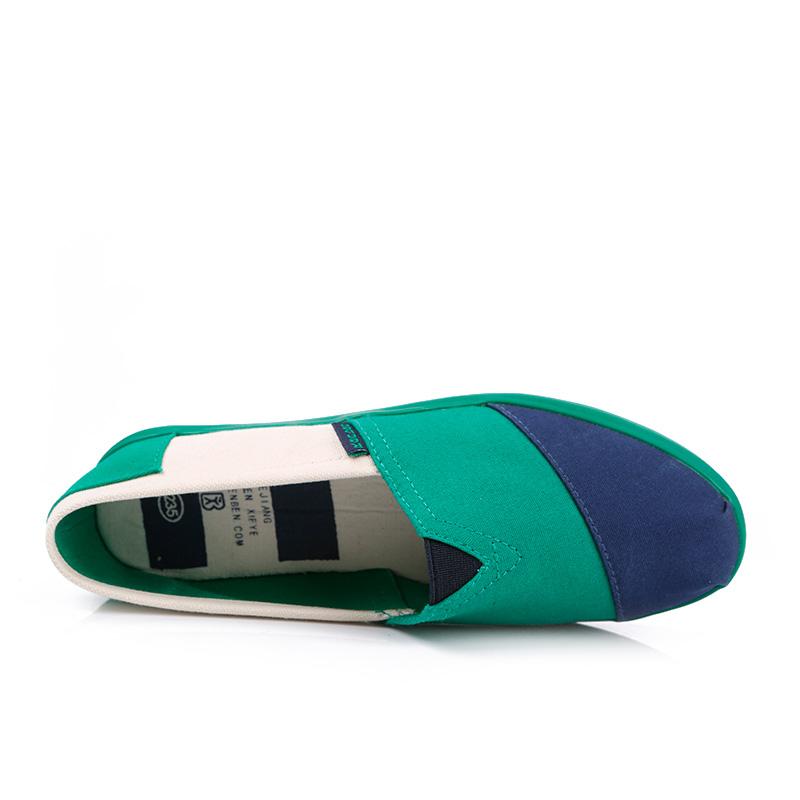 фото back Женские сине-зеленые слипоны RenBen 3775-3 back