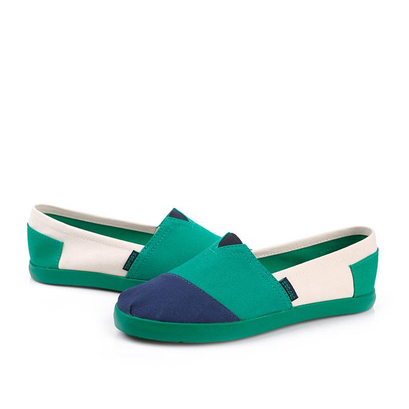 фото front Женские сине-зеленые слипоны RenBen 3775-3 front