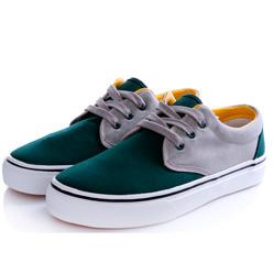 Мужские зеленые с серым кеды RenBen RenBen 9658-1