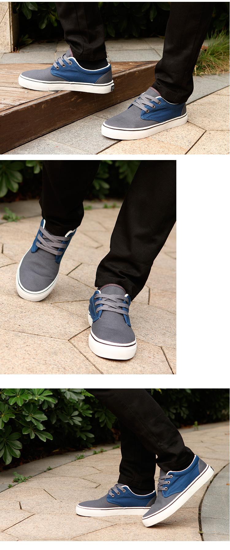 большое фото №6 Мужские серые с синим кеды RenBen RenBen 9658-2