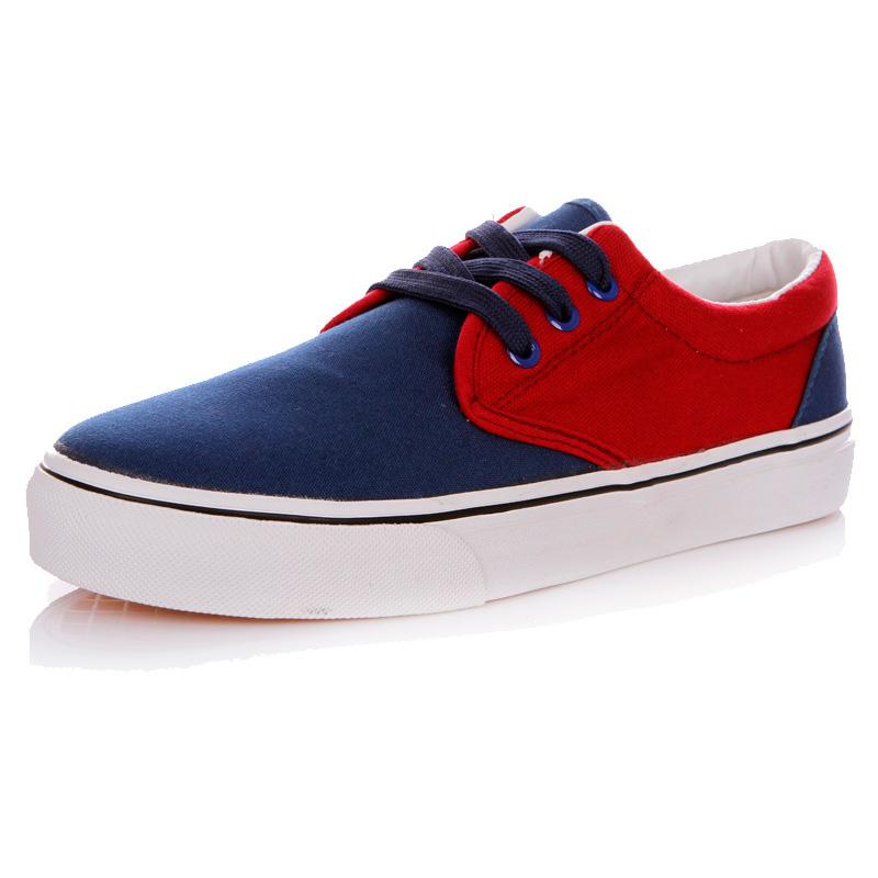 фото front Мужские синие с красным кеды RenBen RenBen 9658-3 front