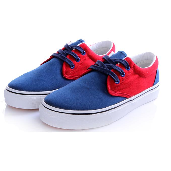фото main Мужские синие с красным кеды RenBen RenBen 9658-3 main