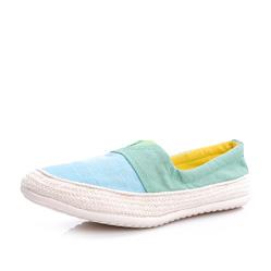 Женские сине-зеленые слипоны RenBen 3266-3