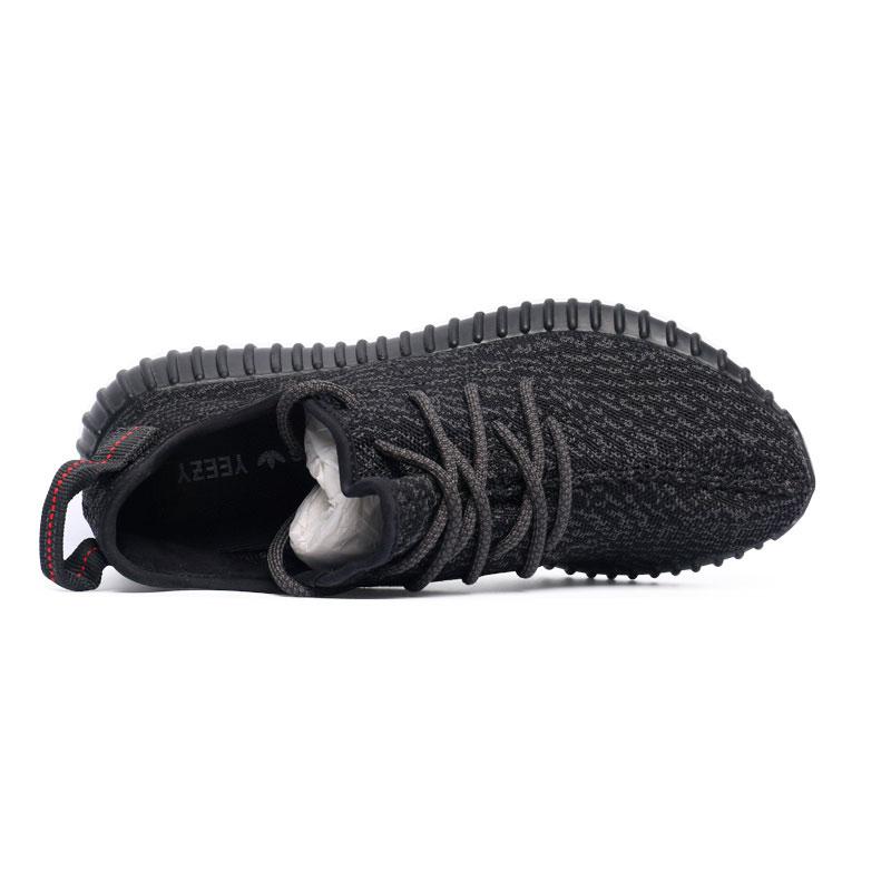 фото back Мужские россовки Adidas Kanye West Yeezy 350 черные - Топ качество back