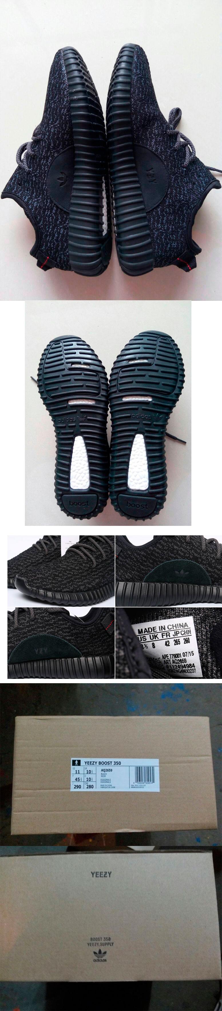 большое фото №6 Мужские россовки Adidas Kanye West Yeezy 350 черные - Топ качество