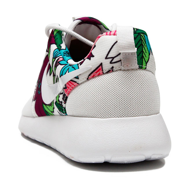 фото back Nike Roshe Run белые в цветочек. Топ качество!!! back