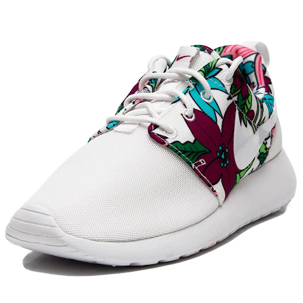 фото bottom Nike Roshe Run белые в цветочек. Топ качество!!! bottom