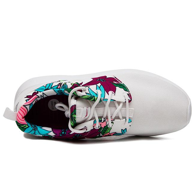 фото front Nike Roshe Run белые в цветочек. Топ качество!!! front