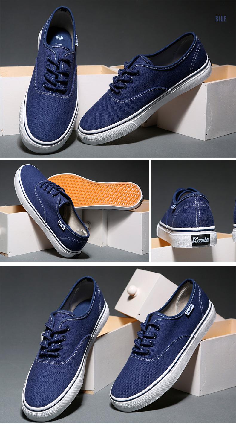 большое фото №6 Мужские синие низкие кеды RenBen RenBen 9972-2