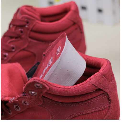 фото front Женские красные замшевые кеды RenBen 8107-1 front