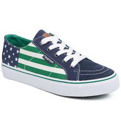 Женские зеленые низкие кроссовки RenBen 8137-2