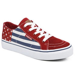 Женские красные низкие кроссовки RenBen 8137-3