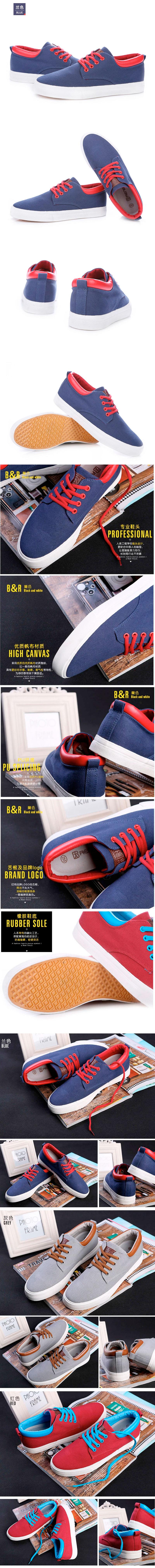 большое фото №6 Мужские синие кеды RenBen 9953-1