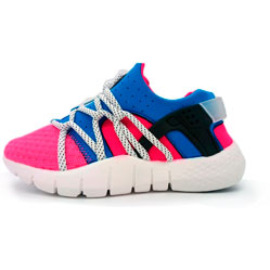 Женские кроссовки Nike Huarache NM розово-синие