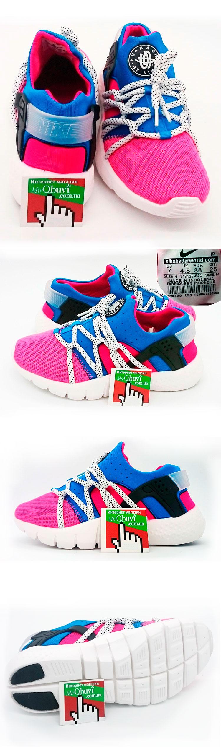 большое фото №5 Женские кроссовки Nike Huarache NM розово-синие