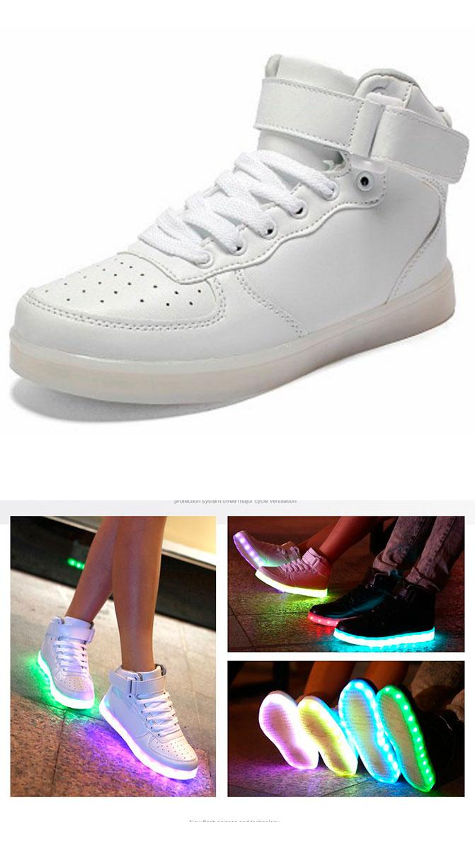 большое фото №6 Светящиеся кроссовки Led