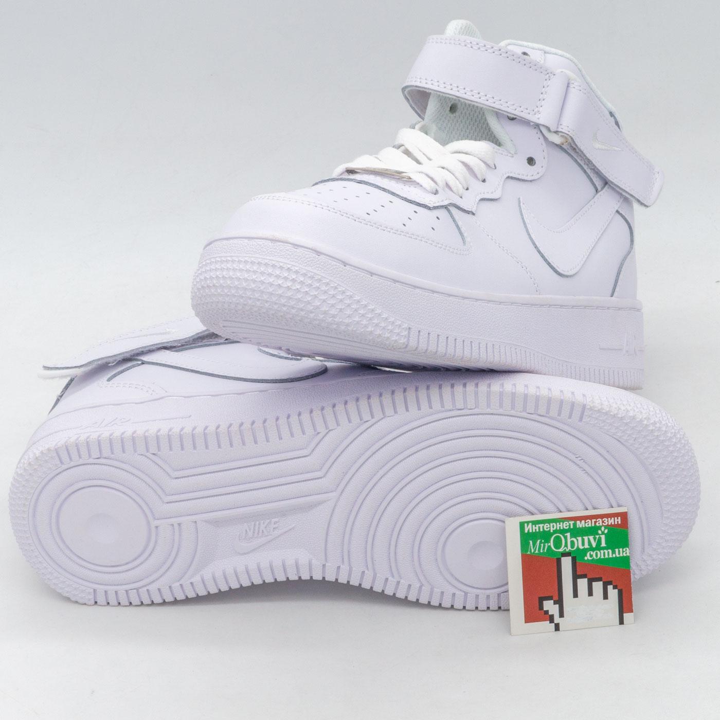 фото back Кроссовки Nike Air Force высокие белые back