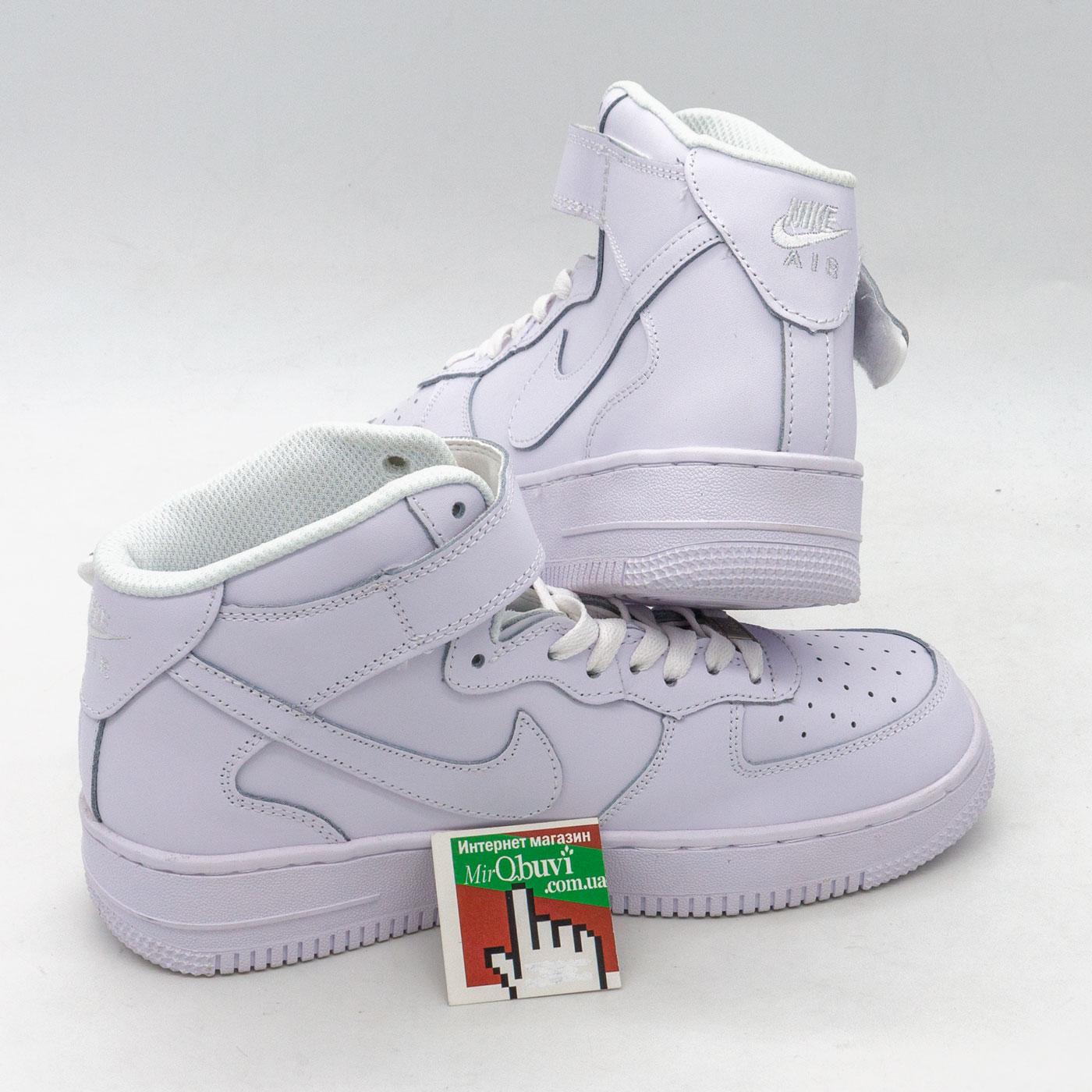 фото front Кроссовки Nike Air Force высокие белые front