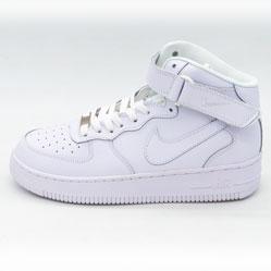 Кроссовки Nike Air Force высокие белые