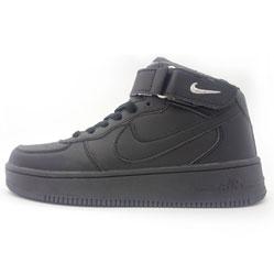 Nike Air Force высокие черные