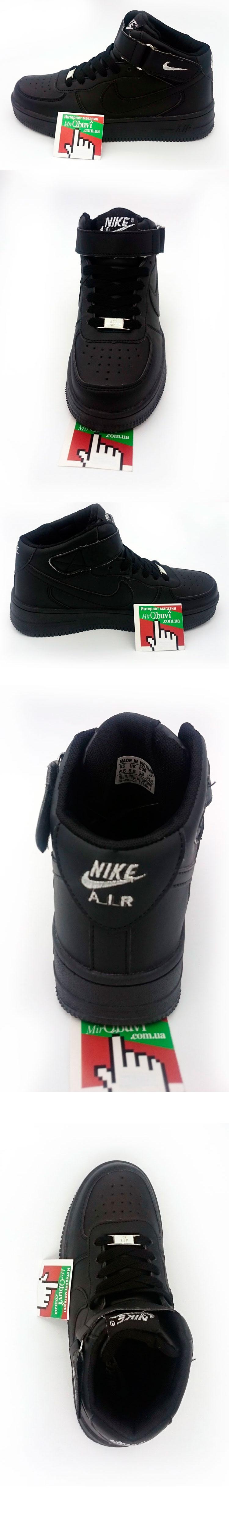 большое фото №5 Nike Air Force высокие черные