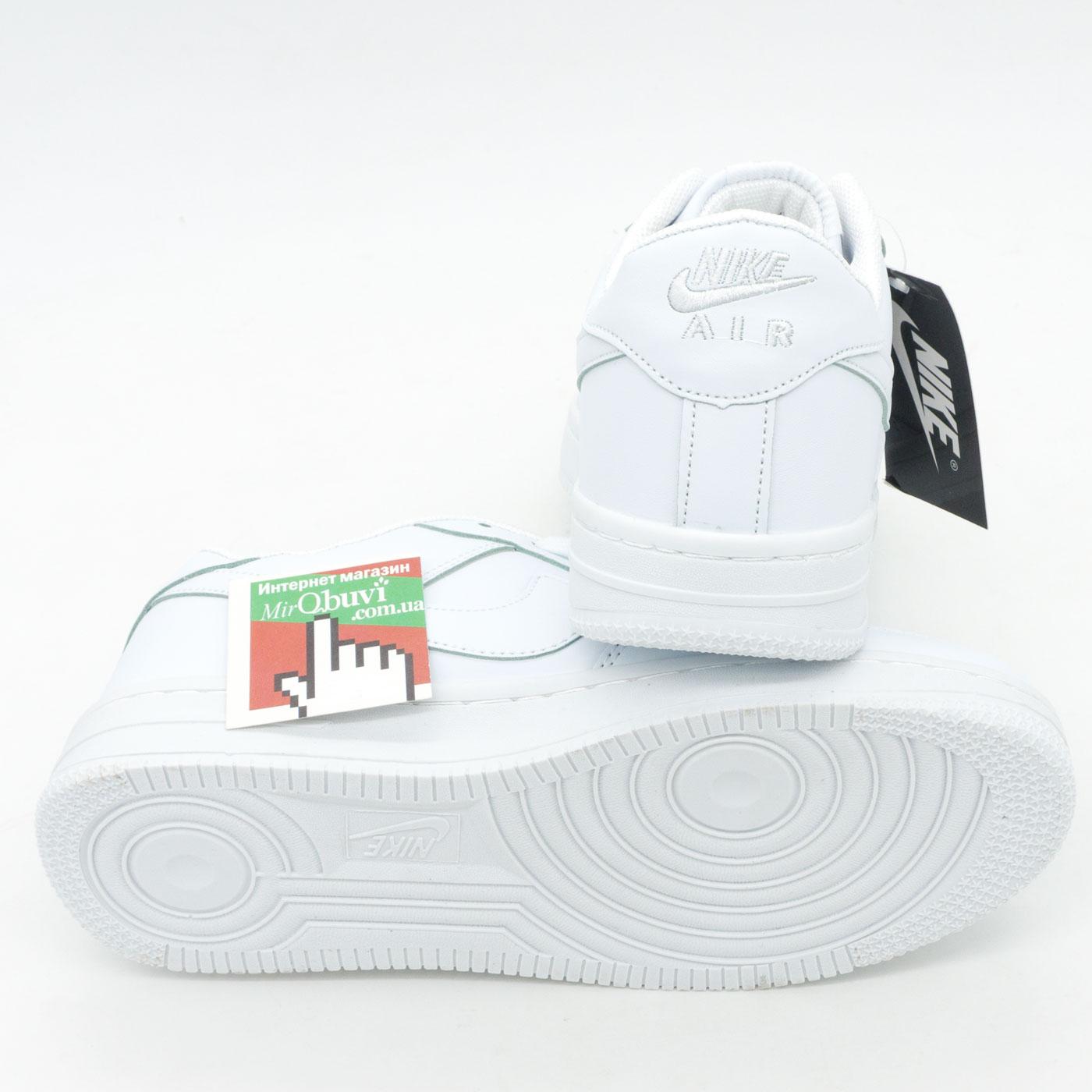 фото front Кроссовки Nike Air Force низкие белые front