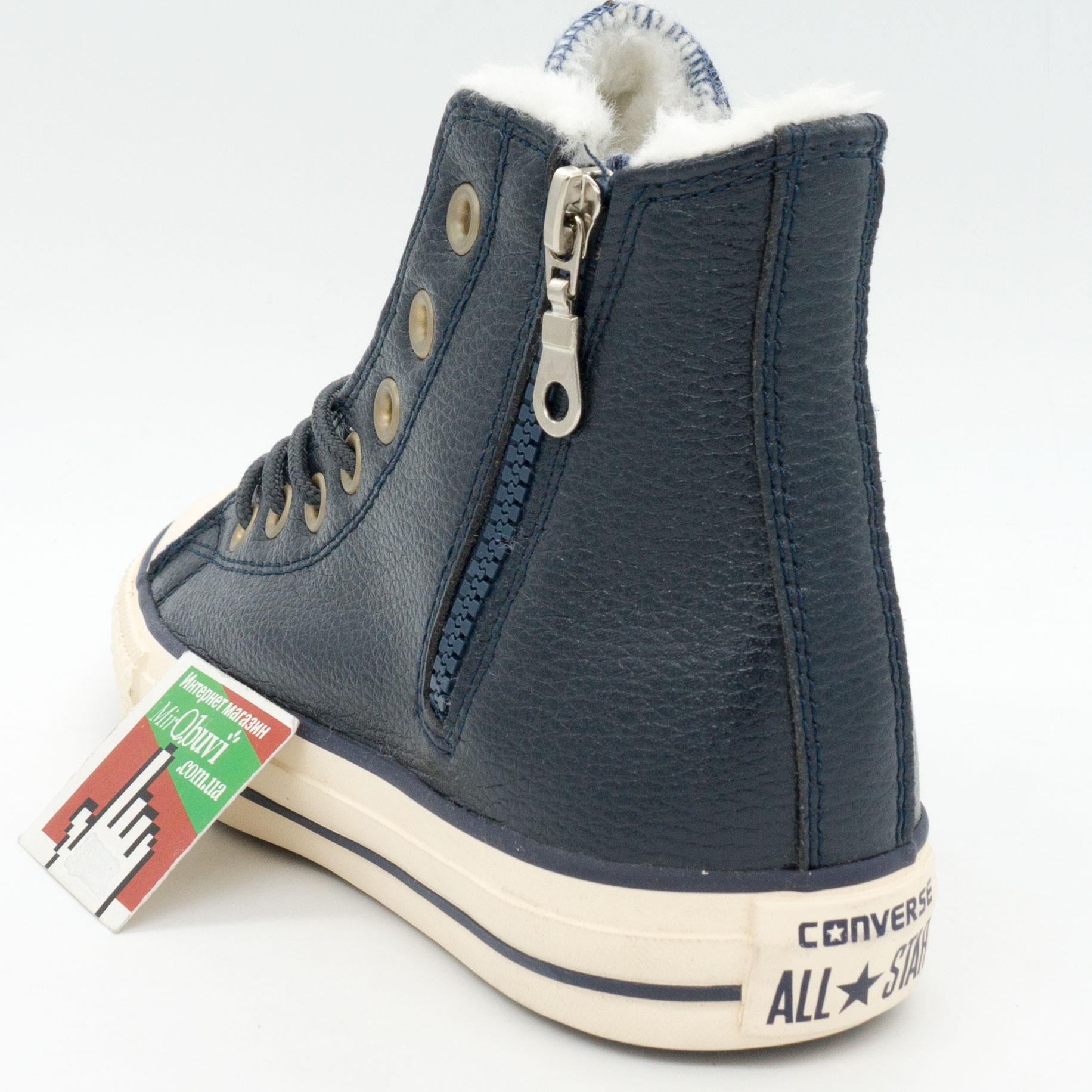 фото back Зимние Converse высокие синие - Топ качество! back