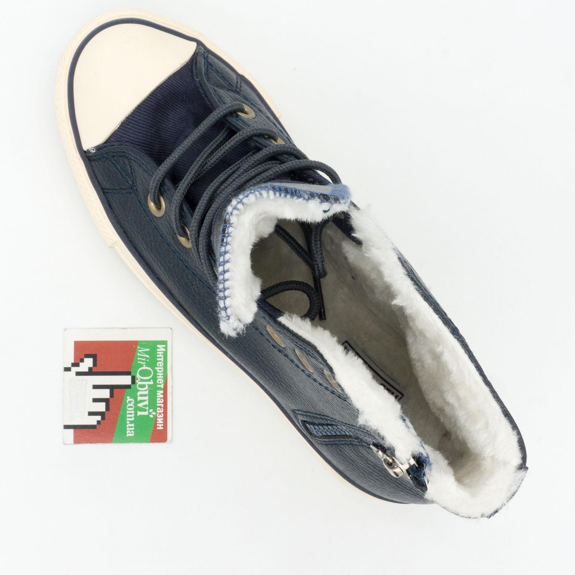 большое фото №5 Зимние Converse высокие синие - Топ качество!