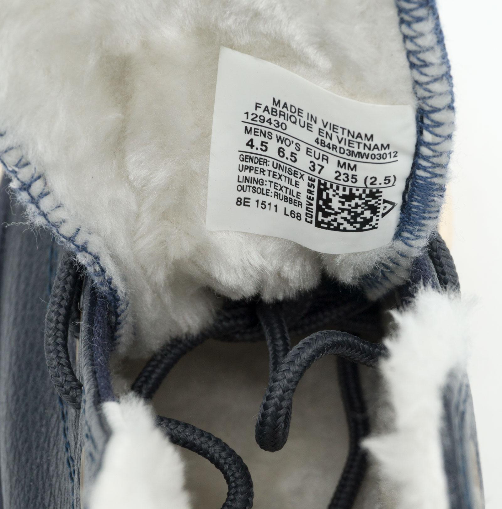 большое фото №6 Зимние Converse высокие синие - Топ качество!
