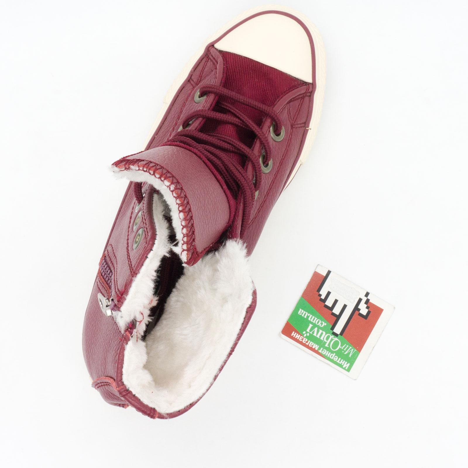 большое фото №5 Зимние кеды Converse высокие бордовые - Топ качество!