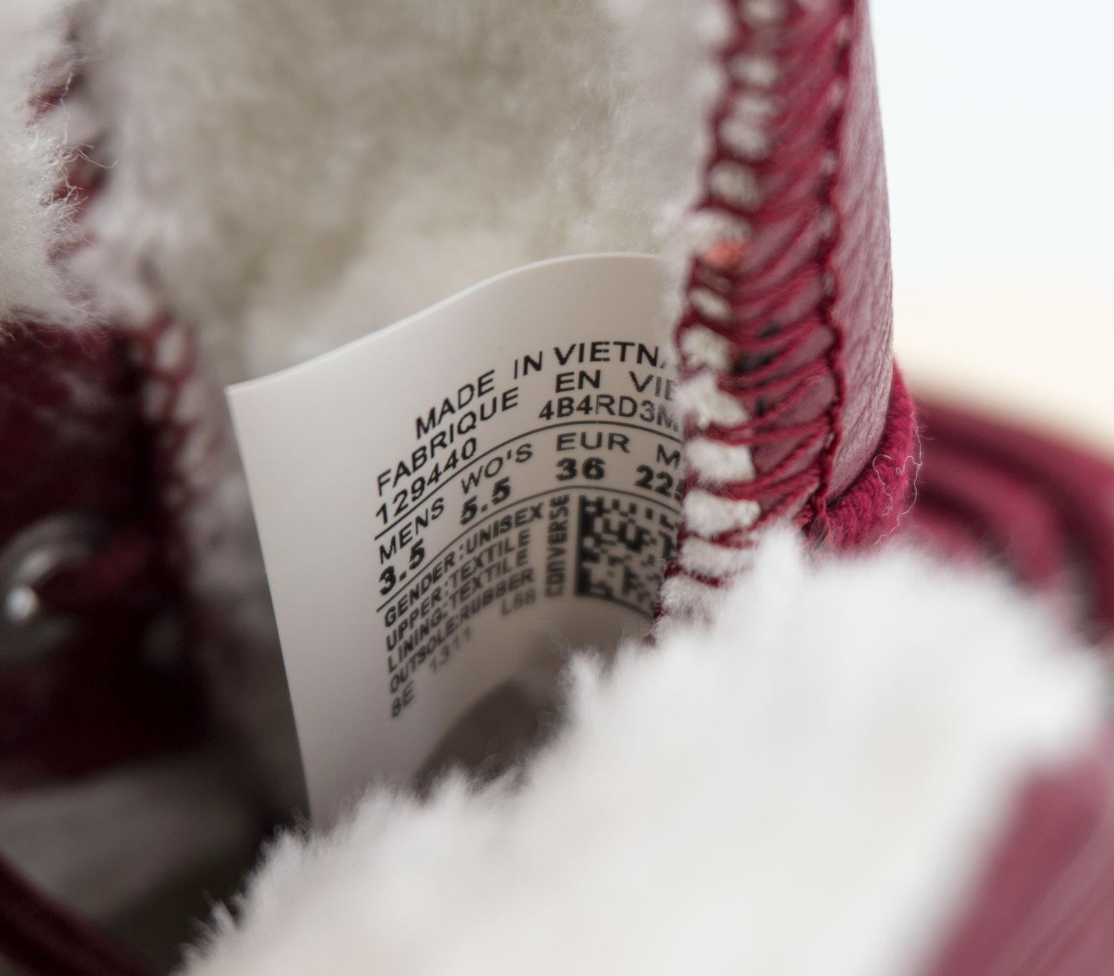 большое фото №6 Зимние кеды Converse высокие бордовые - Топ качество!