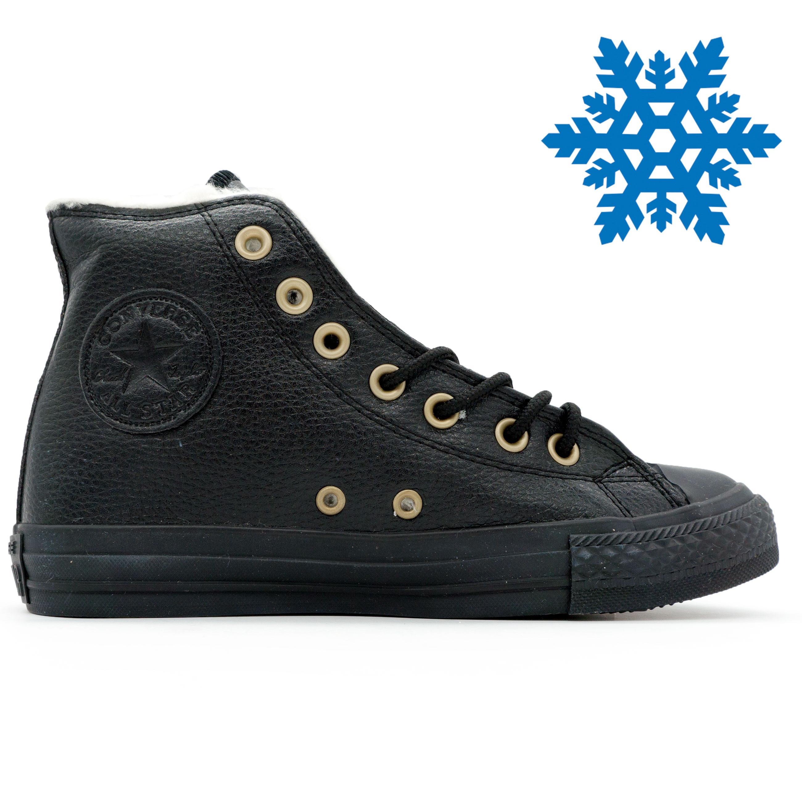 фото main Зимние кеды Converse высокие полностью черные - Топ качество! main