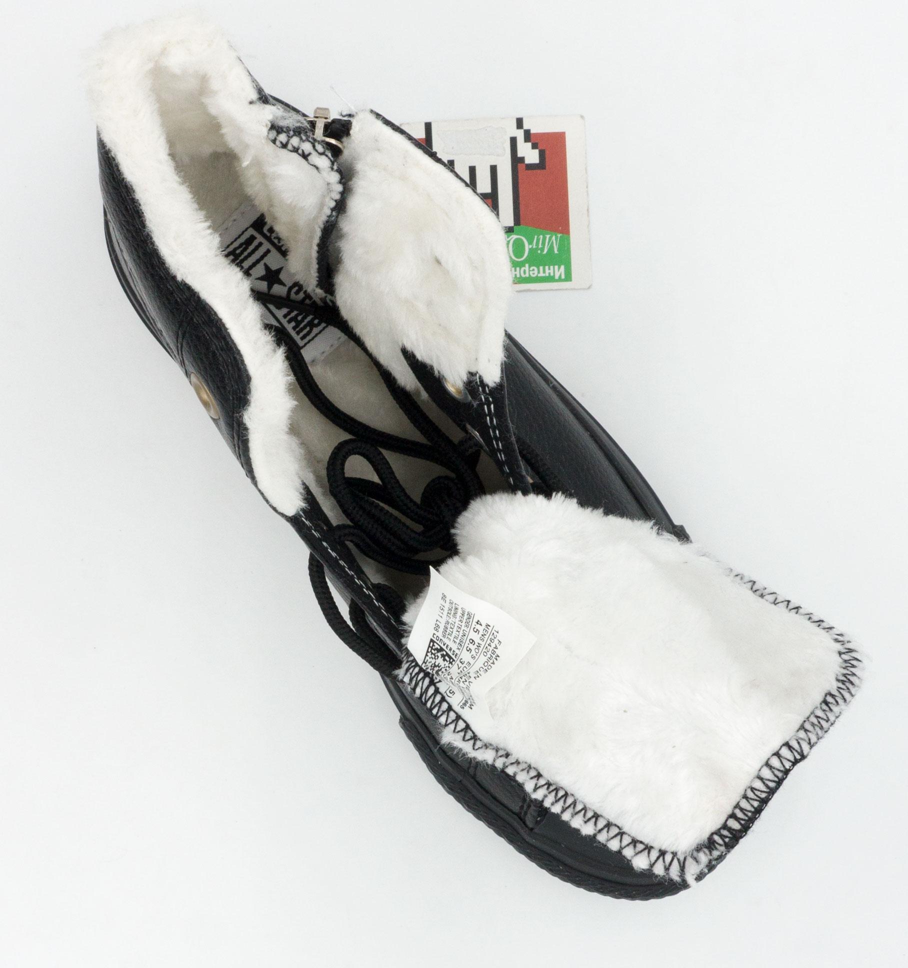 большое фото №5 Зимние кеды Converse высокие полностью черные - Топ качество!