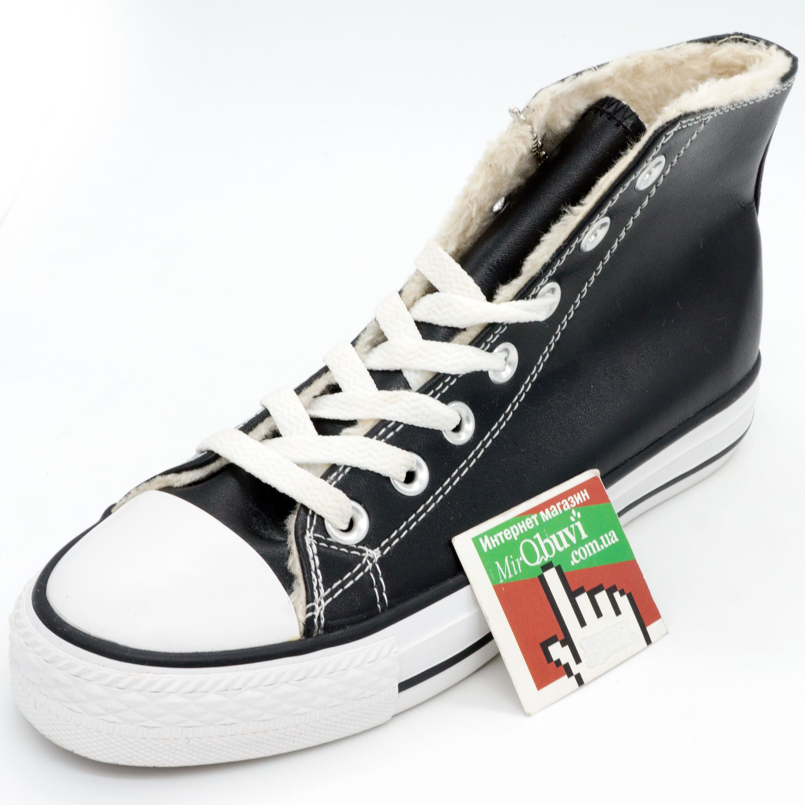 фото back Зимние Converse высокие черные - Топ качество! back