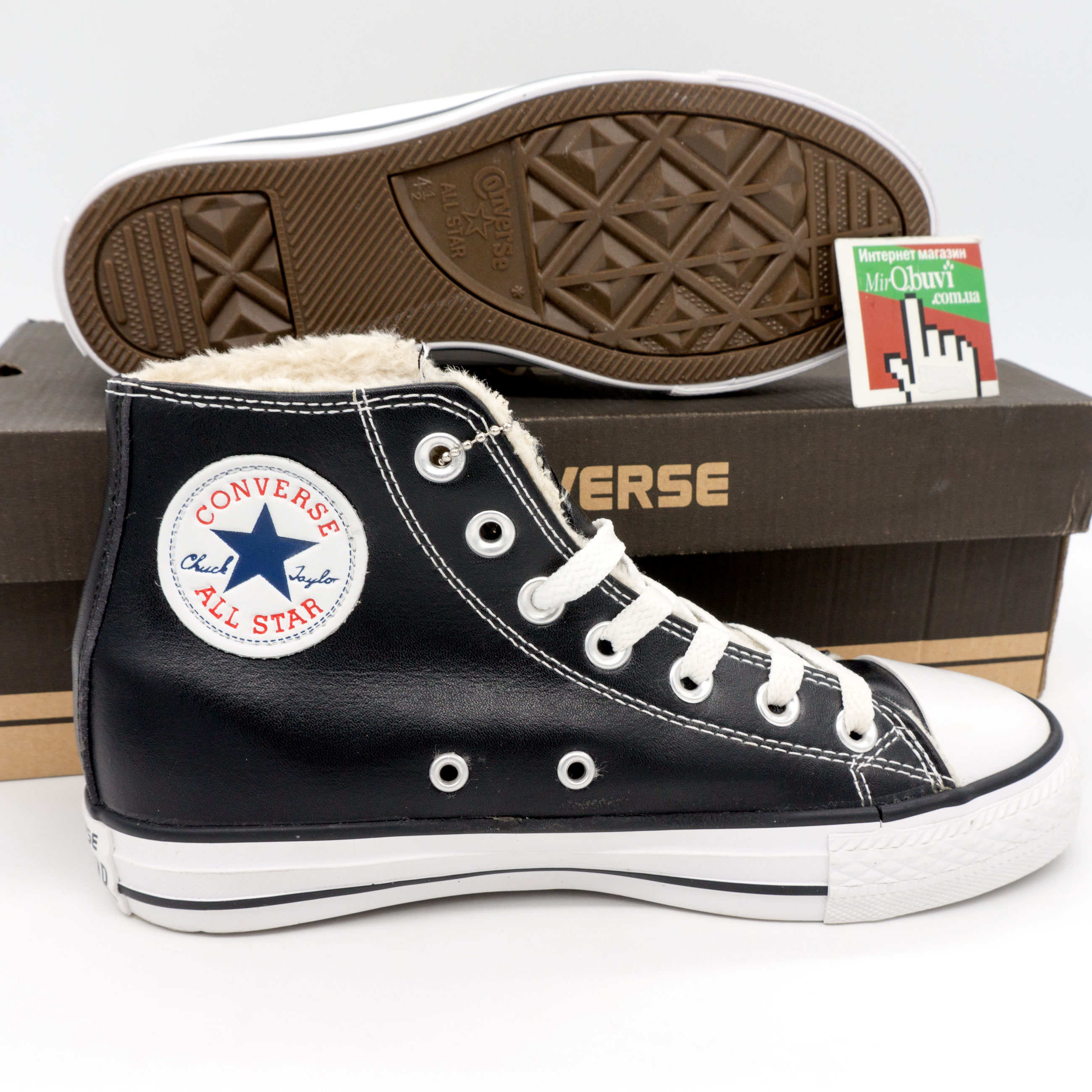 фото bottom Зимние Converse высокие черные - Топ качество! bottom