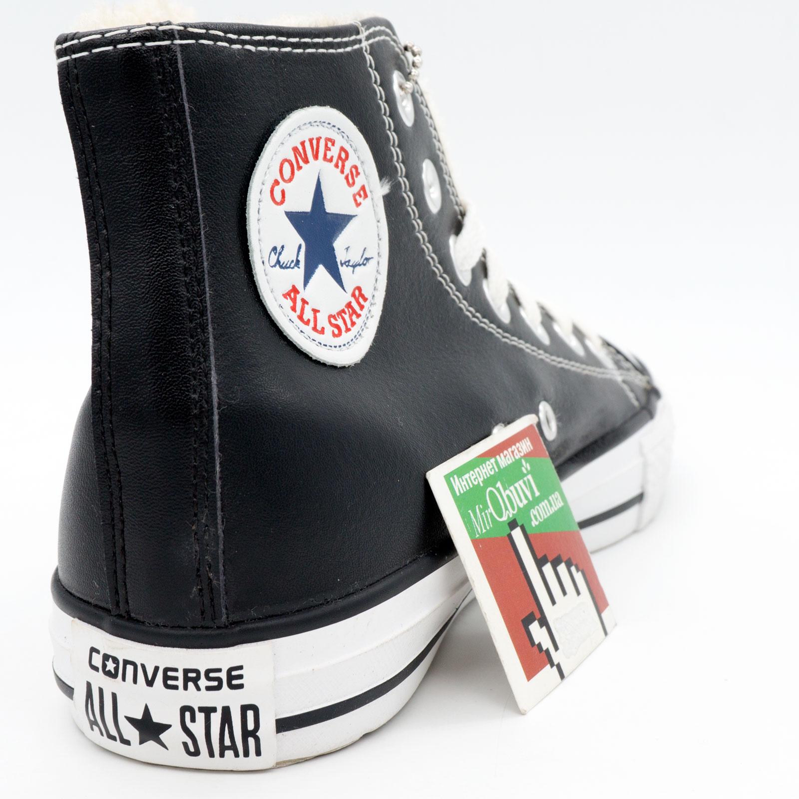 фото front Зимние Converse высокие черные - Топ качество! front