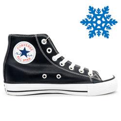 фото Зимние Converse высокие черные - Топ качество!