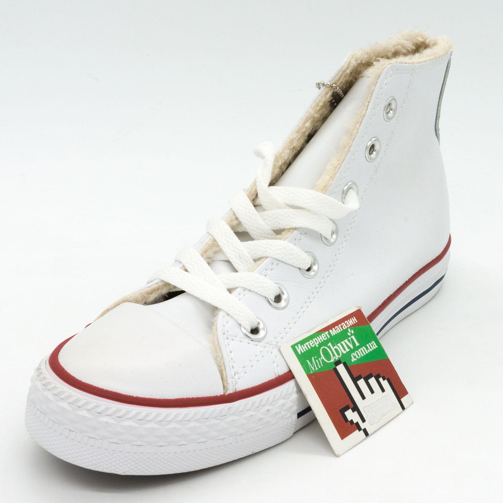 фото back Зимние кеды Converse высокие белые - Топ качество! back