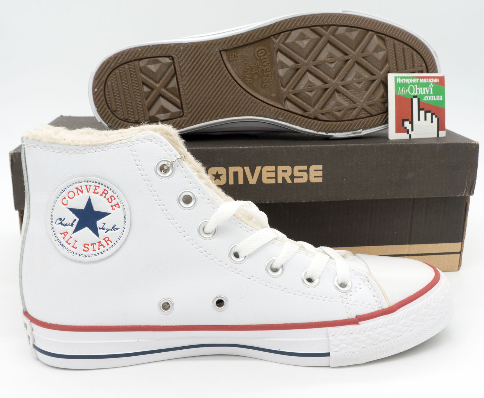 фото bottom Зимние кеды Converse высокие белые - Топ качество! bottom