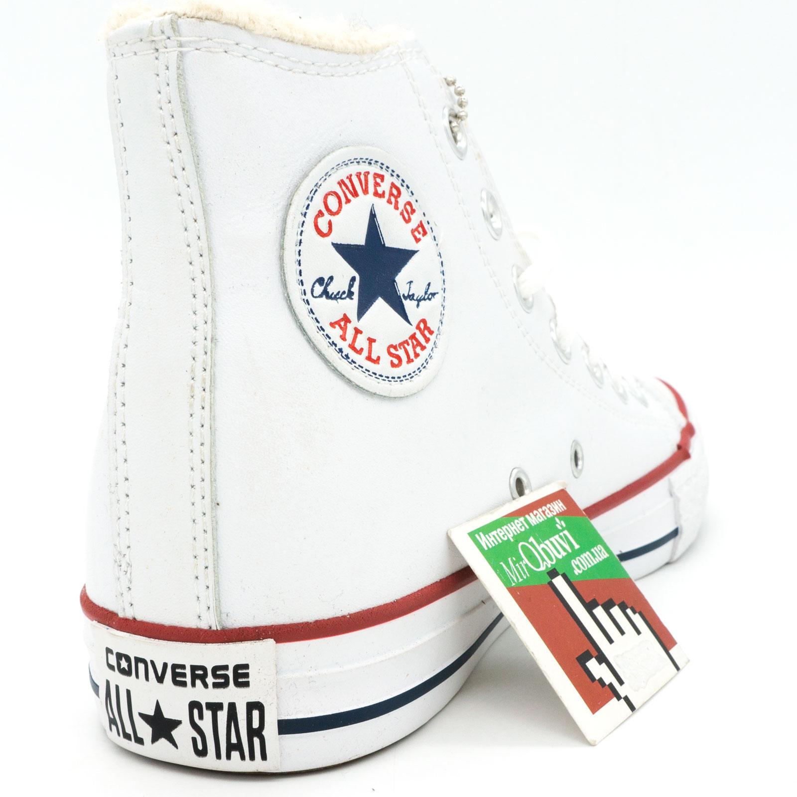 фото front Зимние кеды Converse высокие белые - Топ качество! front