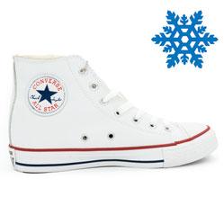 Зимние кеды Converse высокие белые - Топ качество!