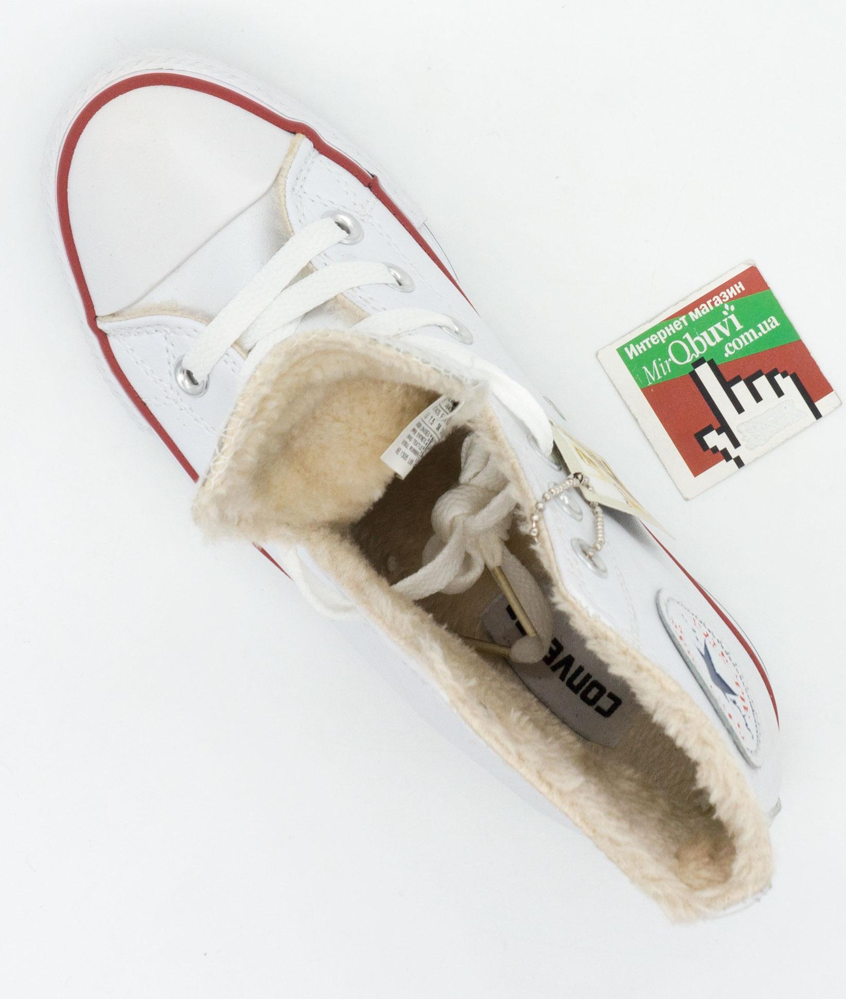 большое фото №5 Зимние кеды Converse высокие белые - Топ качество!