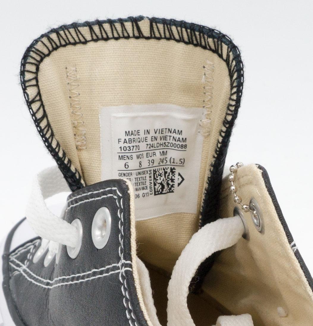 большое фото №5 Кеды Converse кожаные низкие черные