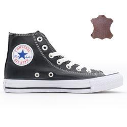 Кеды Converse кожаные высокие черные