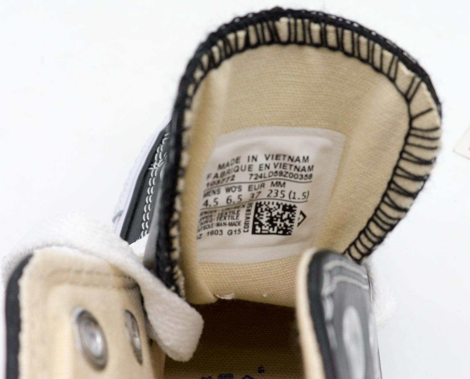 большое фото №6 Кеды Converse кожаные высокие черные